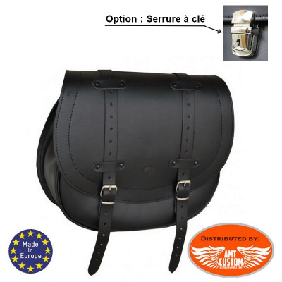 Sportster Left Solo Bag with hole for the shock absorber