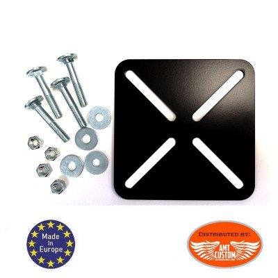 Universal support plate fixing sissy bar bag and Top Case on rear rack