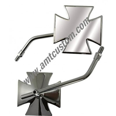 Universal Iron Cross - Maltese Cross Mirrors motorcycles