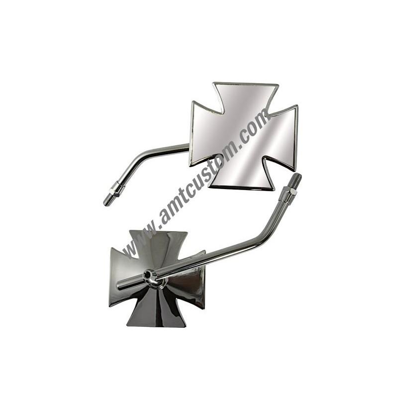 Rétroviseur Croix de Malte - Moto Custom universels