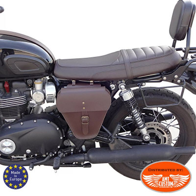 Triumph Leather side bag Bonneville and Street Black or Brown