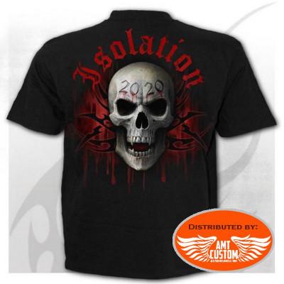 Rear - Social Distancing Skull Biker T-Shirt