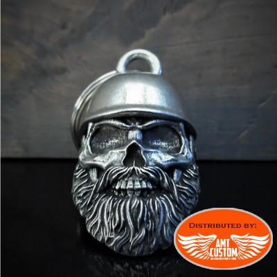 Lucky bell old bearded biker bowl helmet