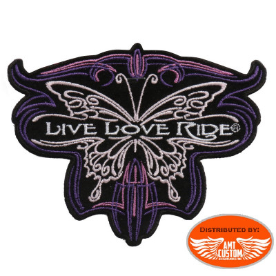 Live Love Ride Butterfly patch