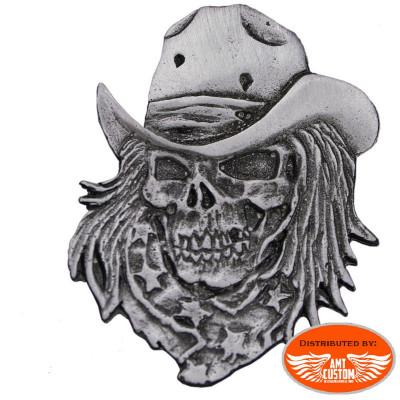 Cowboy skull pin
