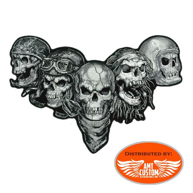 Iron-on Patch Family 5 Skulls