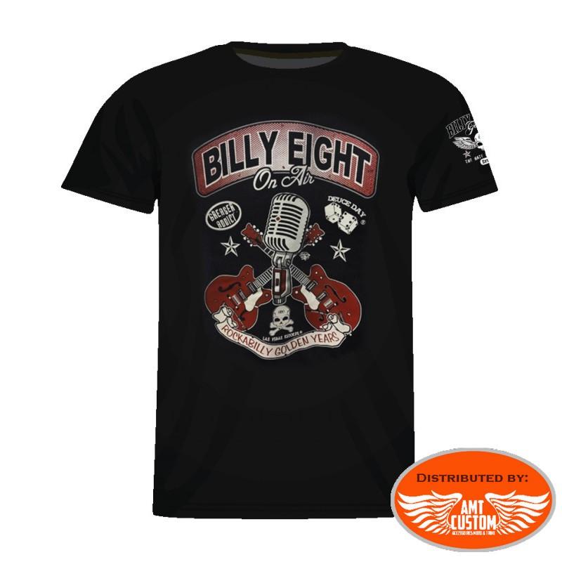 Billy Eight skull micro guitars t-shirt