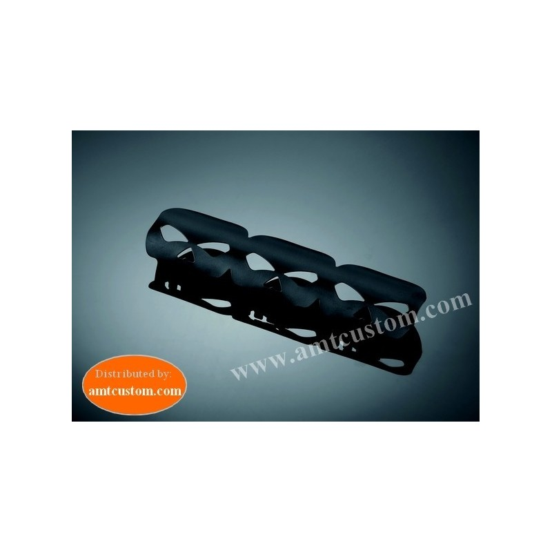 universal exhaust heat shield Skull Black motorcycles , Kustom, Choppers, Harley, trikes, ..
