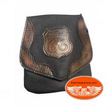 Brown Vintage Leather leg bag Route 66