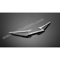 """Guidon Z BAR """" FAT BAR"""" Chrome moto Custom Harley 1"""" 25mm"""