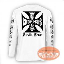 White West Coast Choppers Original Long Sleeve Sweatshirt