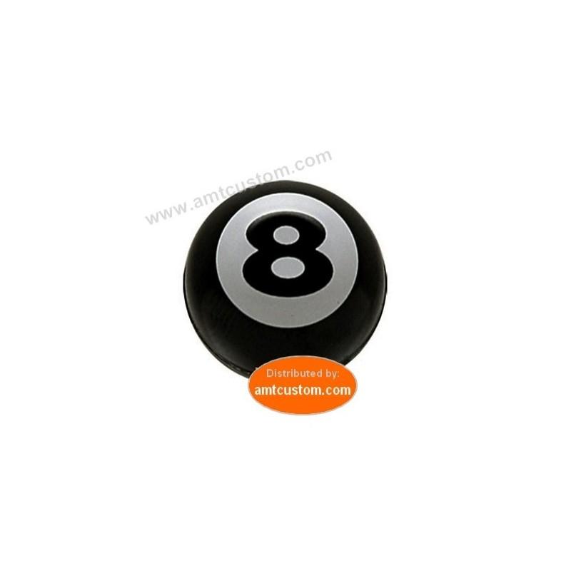 2 Bouchons valve moto Bill Eight 8 - Boule Billard numéro 8