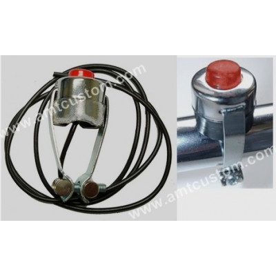 Universal Chrome Pushbutton For horn & siren motorcycle