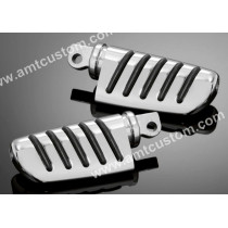 2 Footpegs chrome Harley  Rider and Passenger