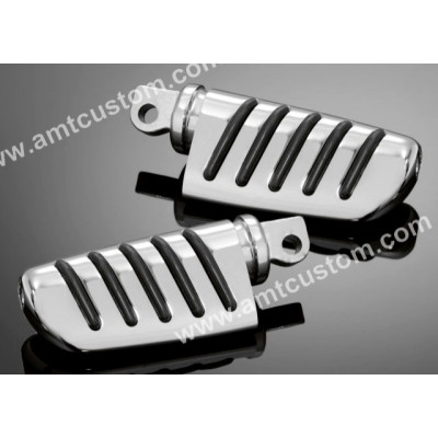 Honda Footpegs chrome passenger: VT125, VT600, VT750, VTX1300, VT1300CX, Fury,.