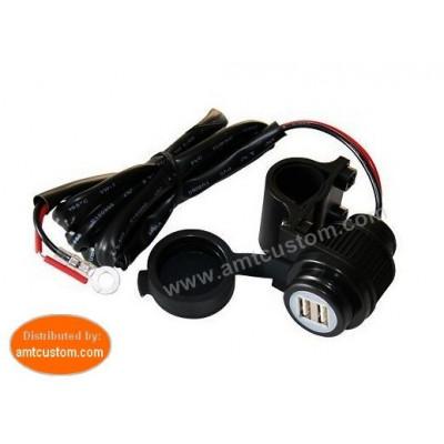Prise Guidon moto USB 12/5V GPS, Téléphone,...