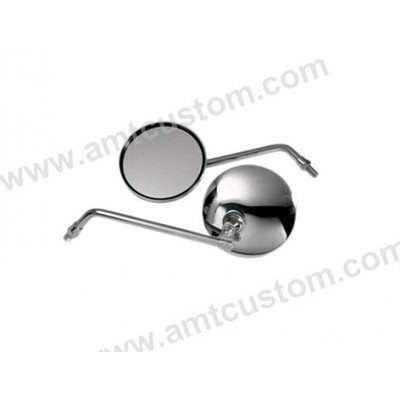 Round Mirrors Universel Chrome Jap motorcycles