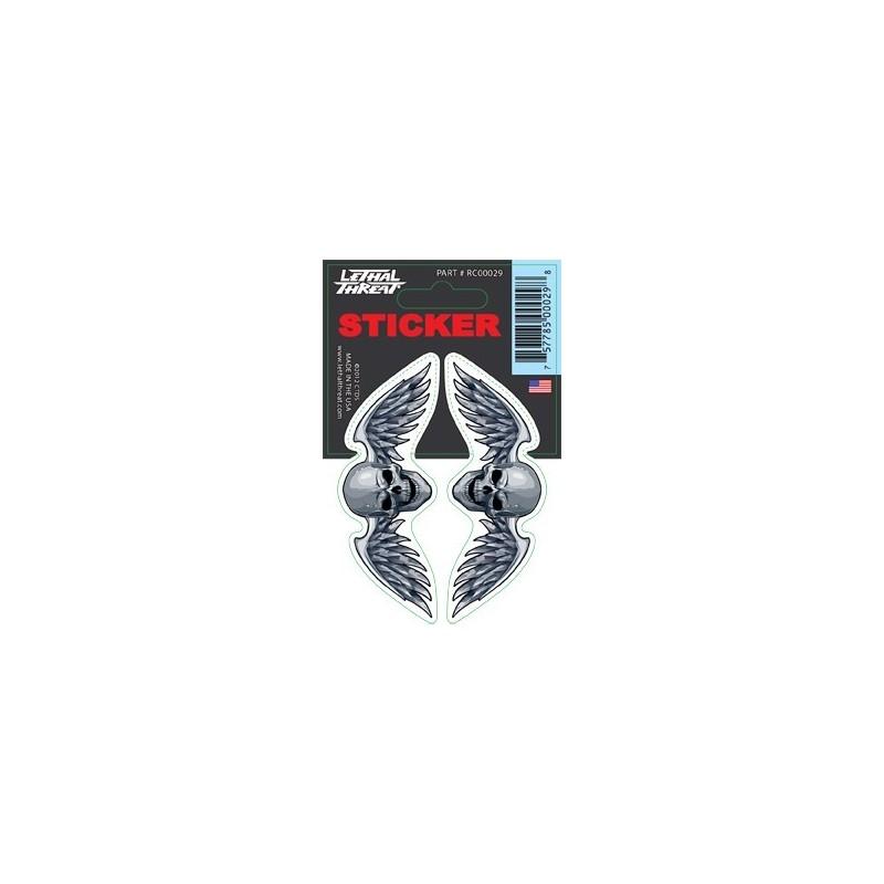 Sticker decal Skull wings motorcycle Custom Trike Chopper Bobber