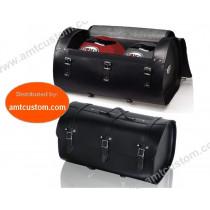 Sacoche Valise Top Case Cuir 2 casques motos et trikes - Customs, Harley, Boom, Rewaco, ...