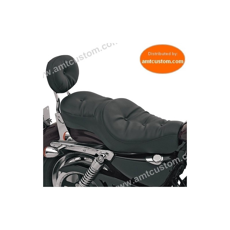 Selle confort Bi-place Sportster XL 883 & 1200 Harley - Finition COUSSIN