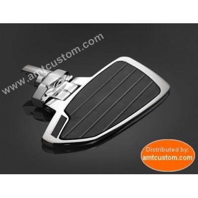2 Platines Reposes pieds Pilote chrome - Honda, Yamaha, Suzuki, Kawasaki