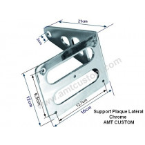 dimensions Support latéral plaque immatriculation Moto Universel, Harley, Choppers, ...