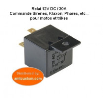 Relai 12V DC Motos et Trikes pour Sirènes, Klaxons, Phares, etc..