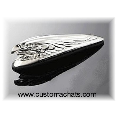 Ornement garde boue Aigle Chrome Moto Custom custom HD harley