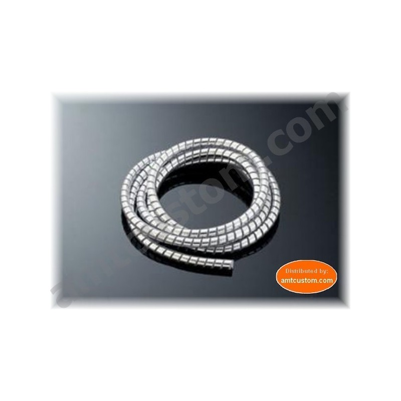 Gaine Chrome spirale Universelle pour cables moto.