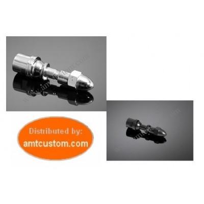 Adaptateur rétroviseurs universels pour Harley Davidson Chrome ou Noir.