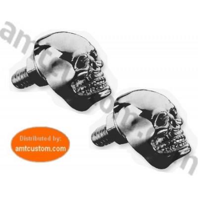 2 boulons tête de Mort Skull Chrome