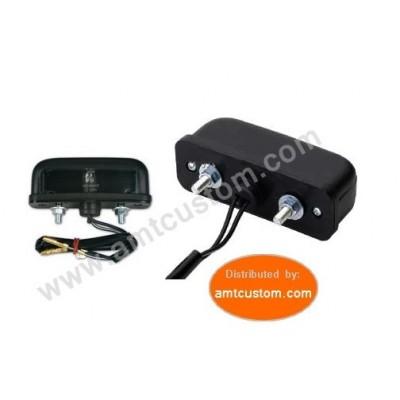 Eclairage plaque Noir Moto & Trike Lumière immatriculation