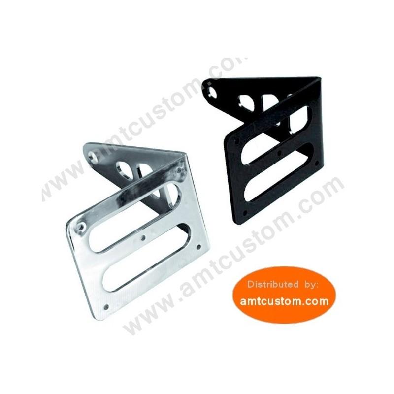 Support latéral plaque immatriculation Moto Noir ou chrome