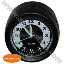 """Montre Guidon moto Noire diamètre 22mm (7/8"""") et 25mm (1"""")"""