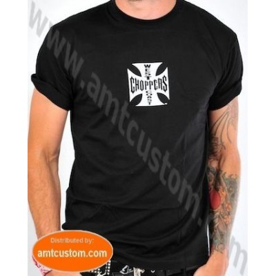Tee-shirt Biker West Coast Choppers Original Vue de face Custom Trike Bobber Chopper