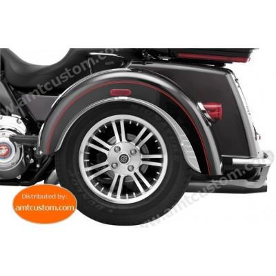 2x Ornements garde boue trike TRIGLIDE pour Harley Davidson FLHTCUTG