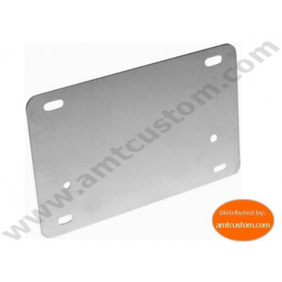 Support plaque immatriculation Moto Inox
