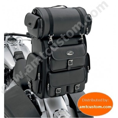 Universal Sissy bar Bagand Roll Bag Luxe for HARLEY Davidson motorcycles choppers customs