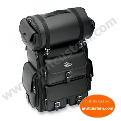 Nombreuses poches de rangement sacoche Sissy bar Top Case Moto custom & Harley