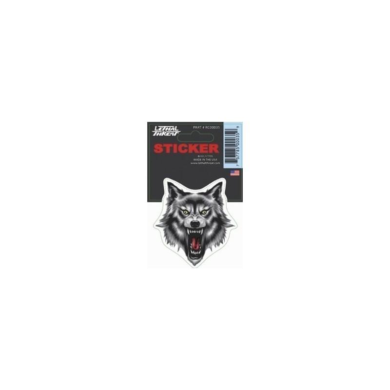 Sticker Tête de Loup moto custom harley autocollant lethal