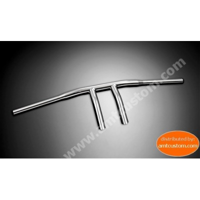 "Guidon Wishbone Chrome 25mm (1"")  Honda, Yamaha, Suzuki et Kawasaki - moto custom"
