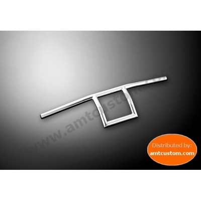 "Handlebar Square Chrome 22mm et 25mm (7/8"" and 1"")  Harley, Honda, Yamaha, Suzuki et Kawasaki - motorcycles"