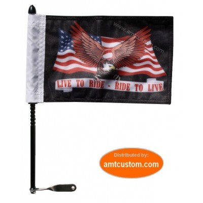 Mast and Support Flag Motorcycle trike.