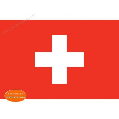 Swiss flag pennant for motorcycle's mast custom harley biker