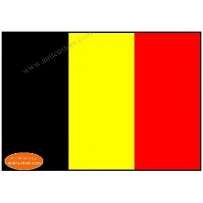 Belgian flag pennant for motorcycle's mast custgom biker harley