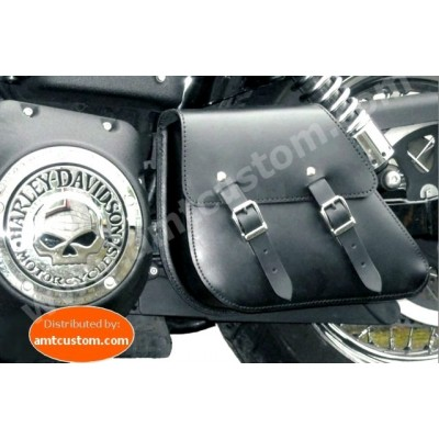 Leather Swingarm bag Dyna Harley Davidson FWDB, FXDC, FXDWG, FXDF, FLD
