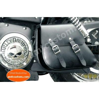 Leather Swingarm bag Dyna Harley Davidson FWDB, FXDC, FXDWG, FXDF, FLD