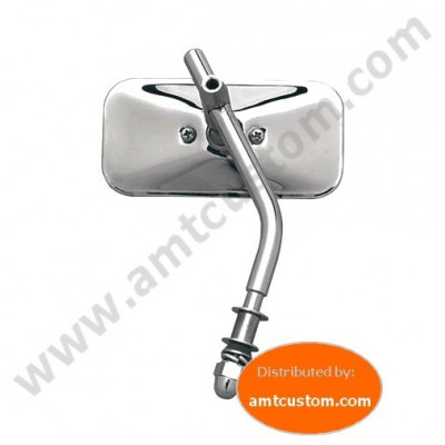 Chrome Mirror Rectangle Round Rod for Harley