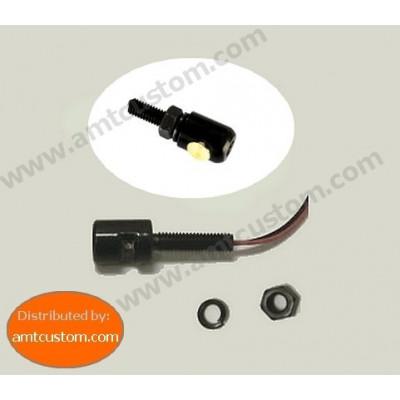 Boulon Noir Eclairage LED plaque immatriculation moto