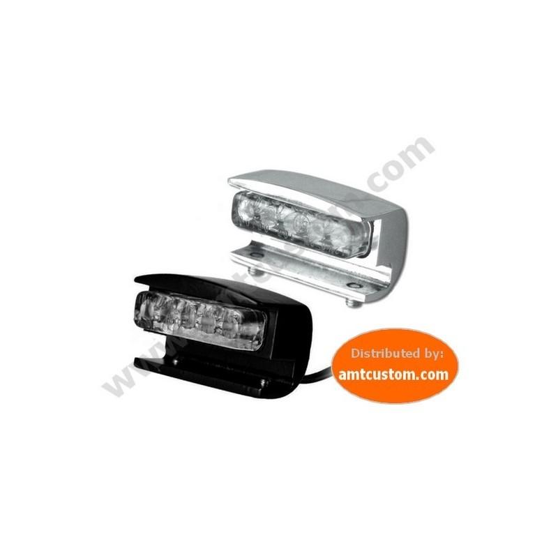 Eclairage LED plaque chrome ou noir Moto & Trike custom harley